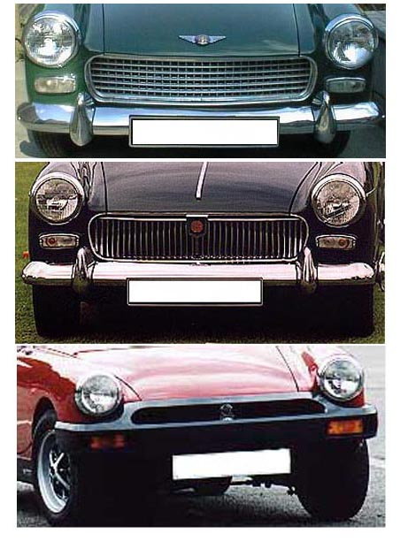 How to convert MG Midget rubber bumper to chrome bumper